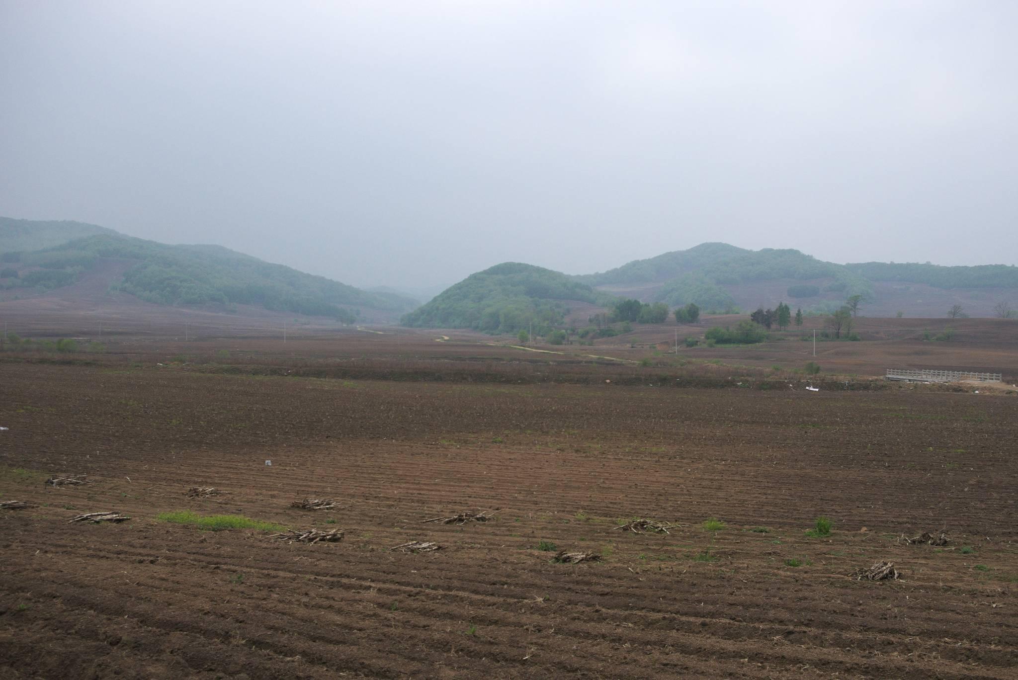 Rolnicze tereny na prowincji.