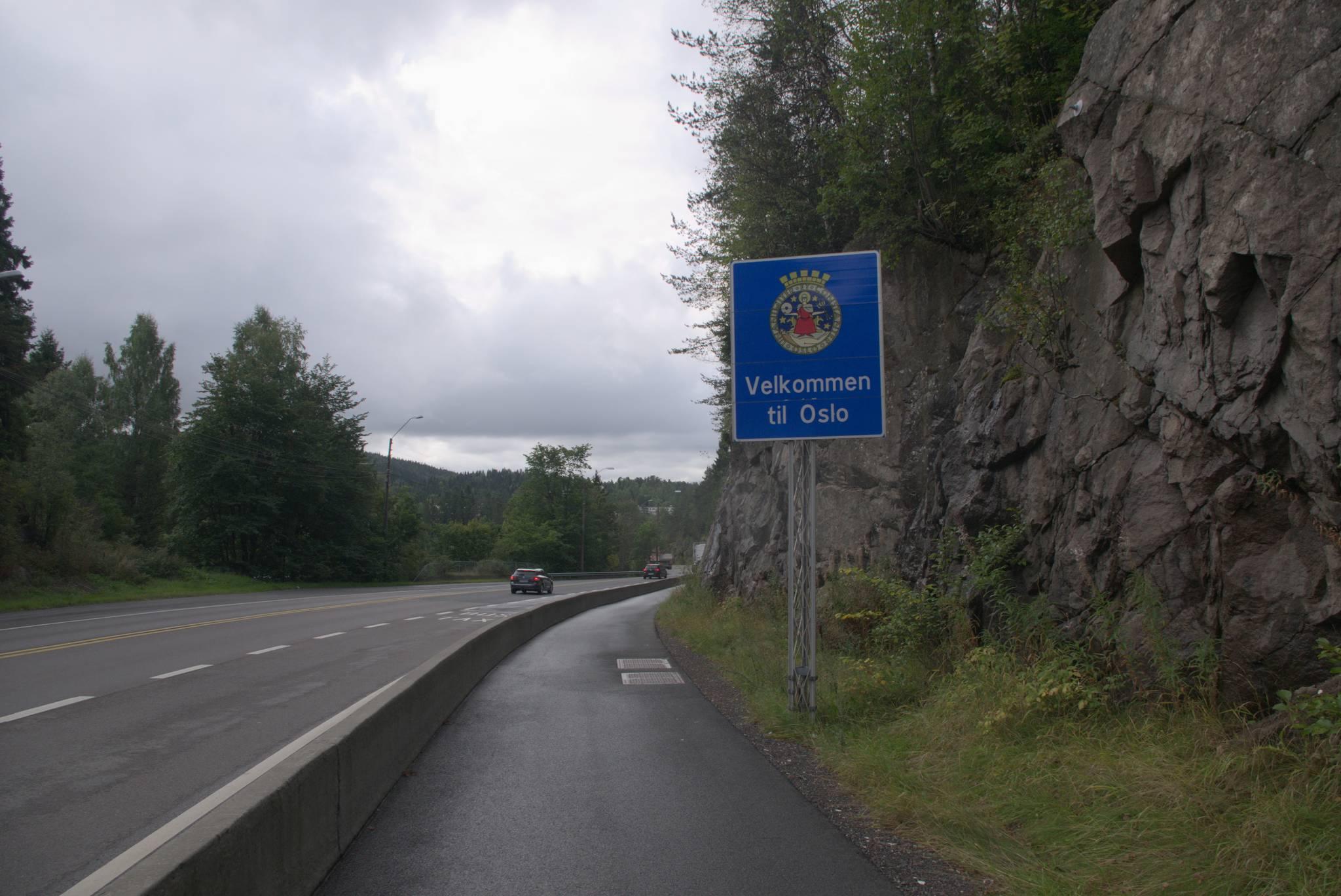 żegnam się z Oslo, tu przynajmniej udało się dorwać tabliczkę