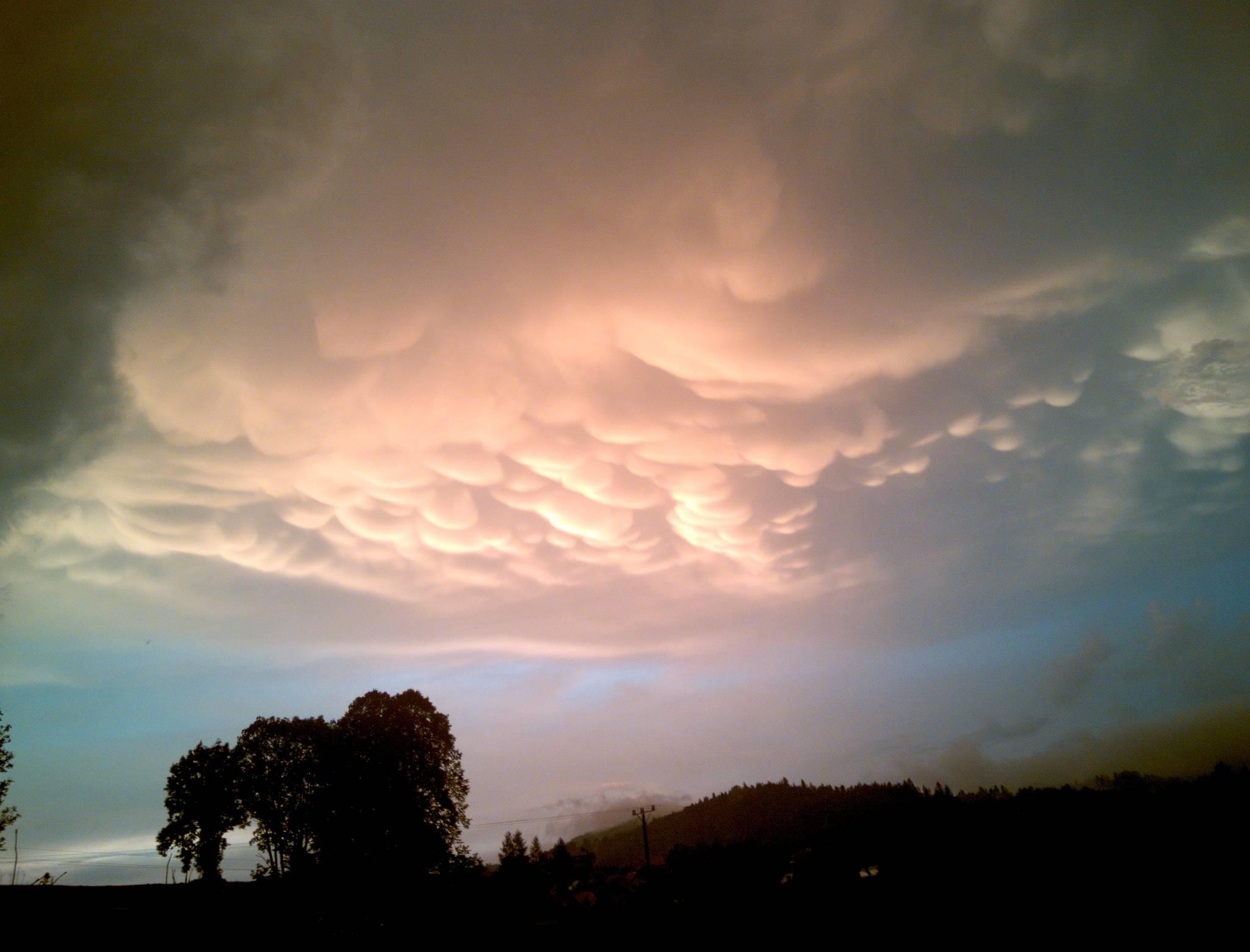 Piękne niebo po burzy.