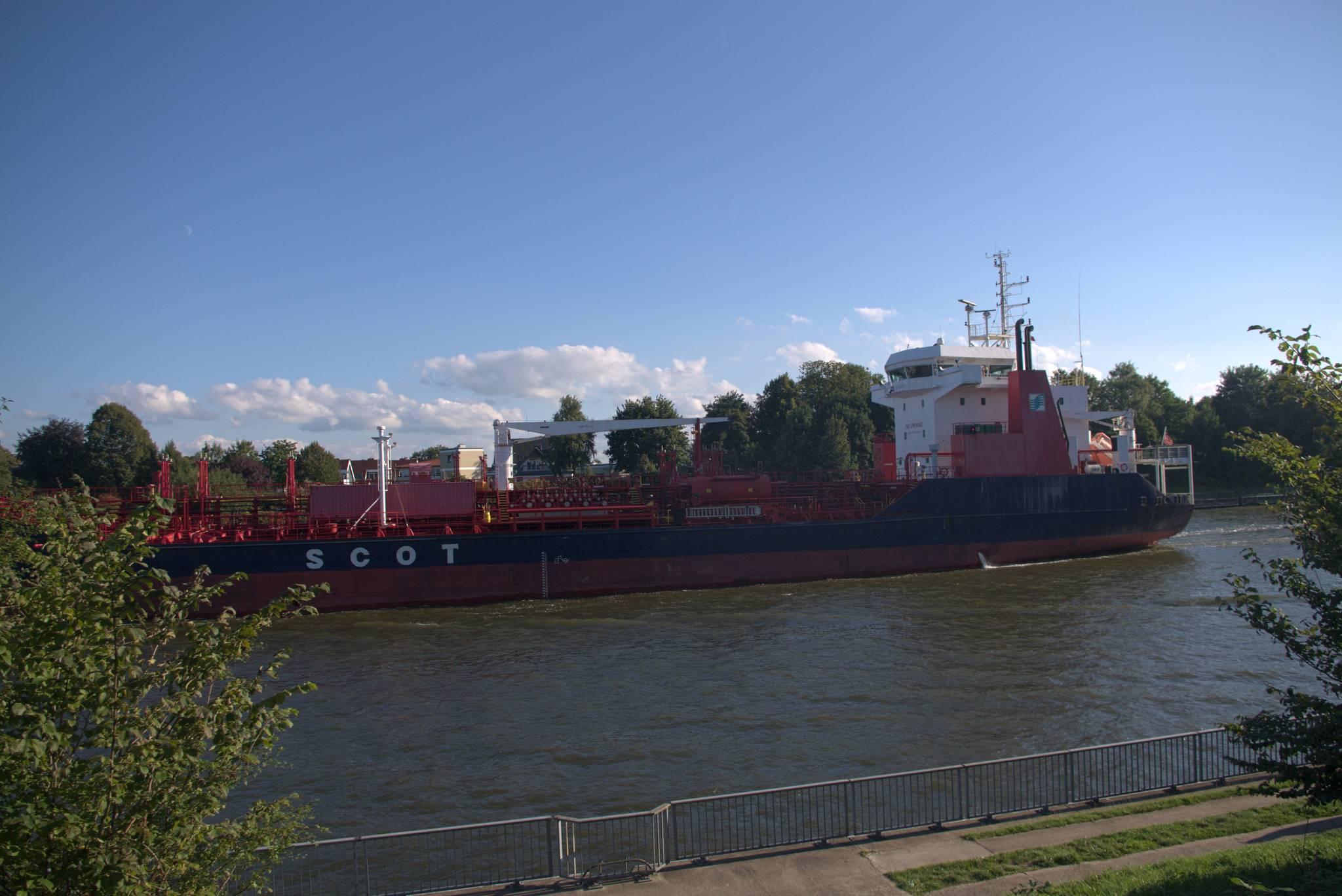 Statek w kanale kielskim