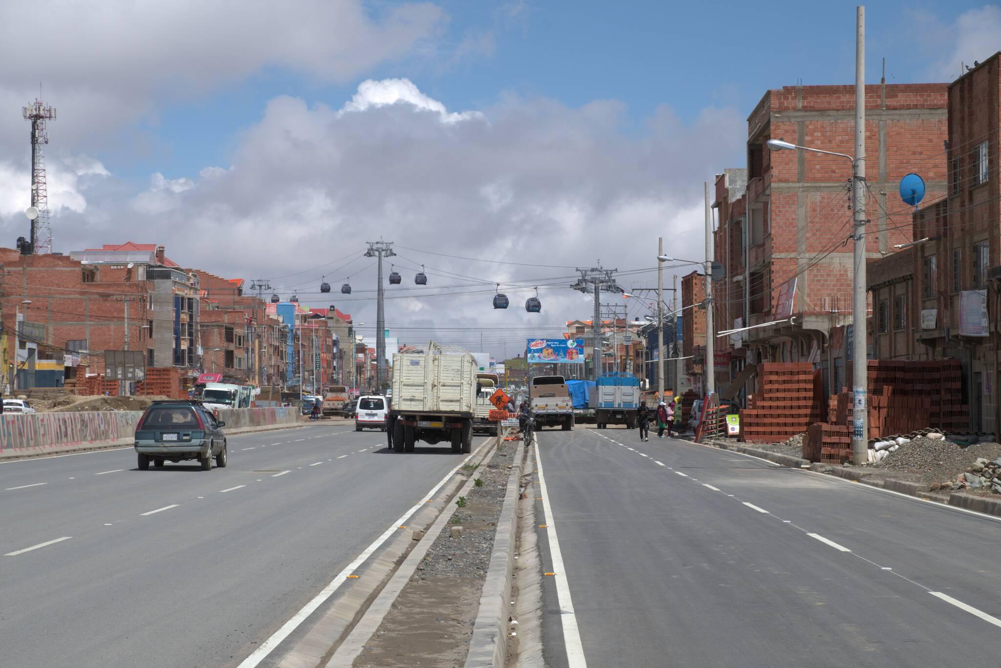 El Alto i niebieska linia teleferico