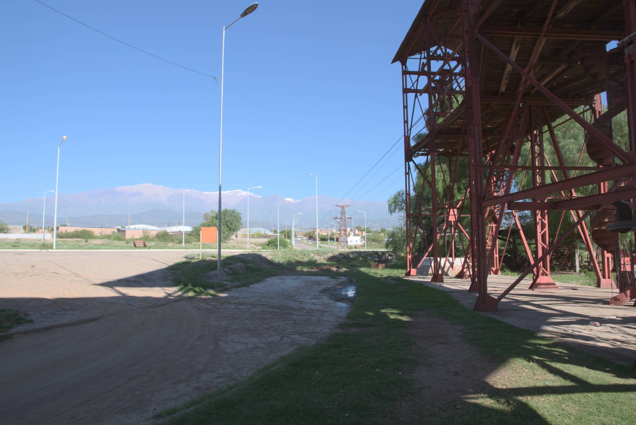 Początkowa stacja kolejki w Chilecito