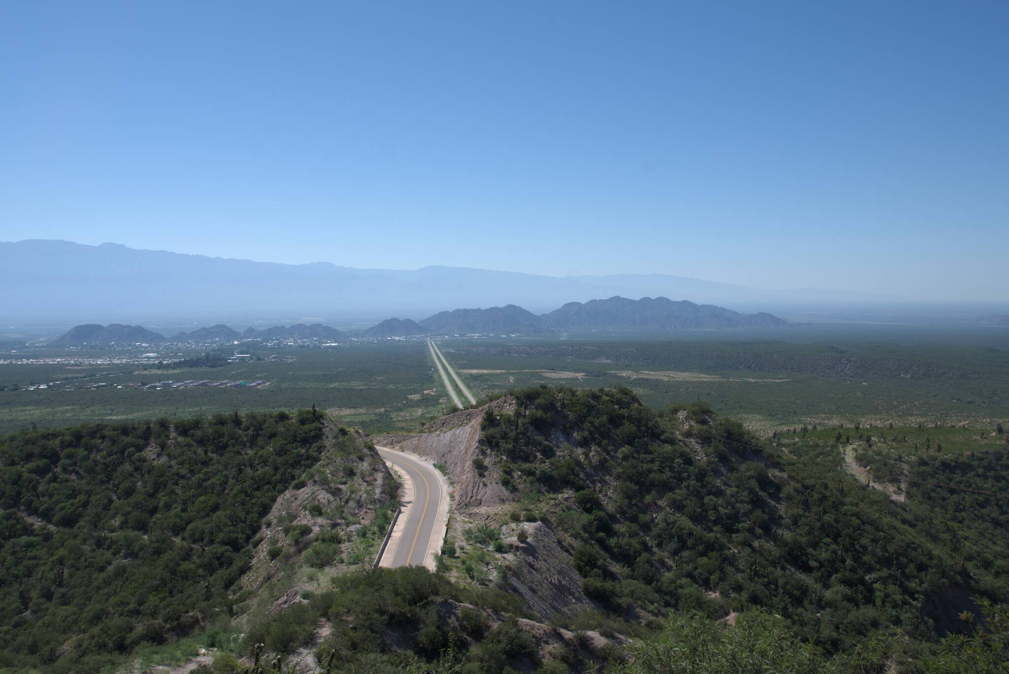Chilecito widziane z drugiej stacji