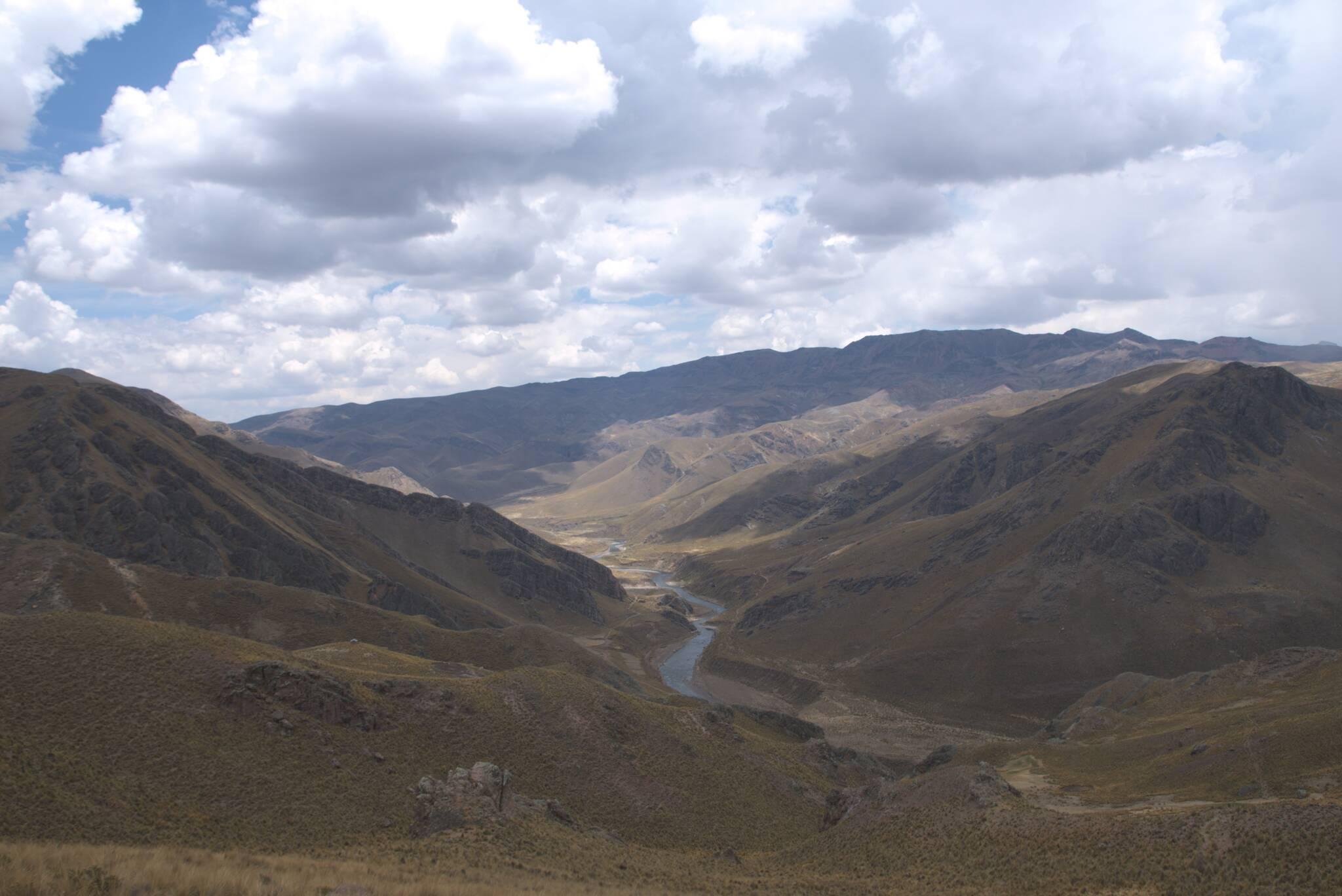 Rzeka Colca w górnym biegu jest jeszcze bardzo długa