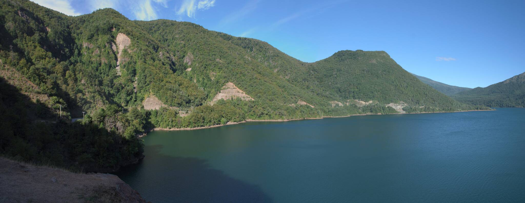 Kolejny zbiornik, jezioro Pangue