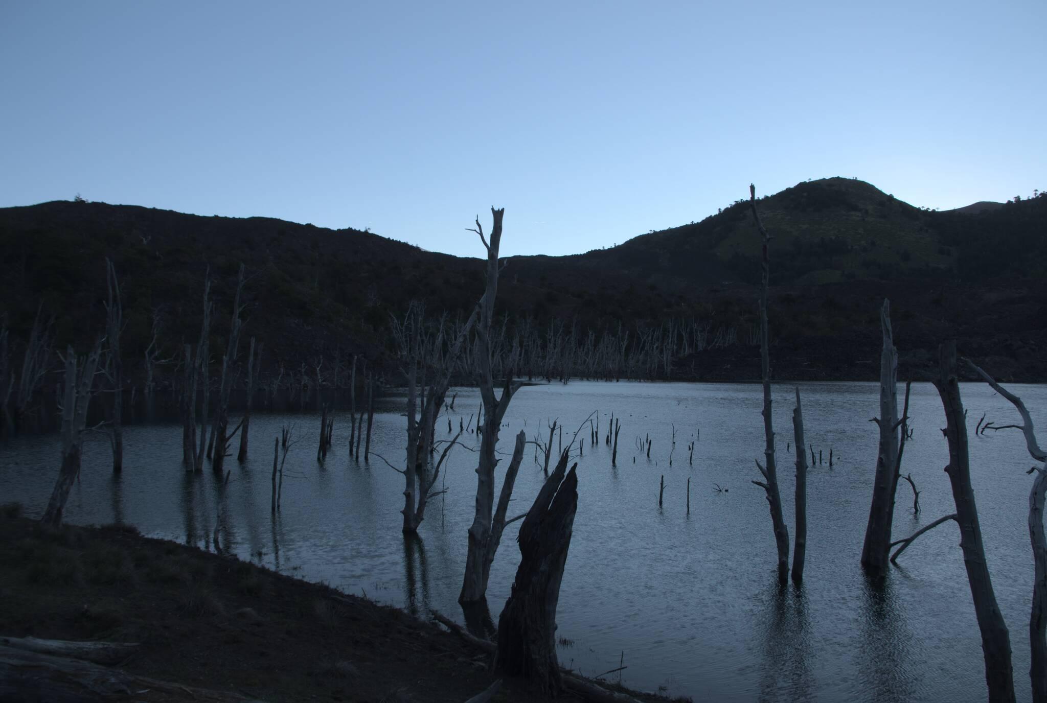 Jezioro, które powstało po erupcji
