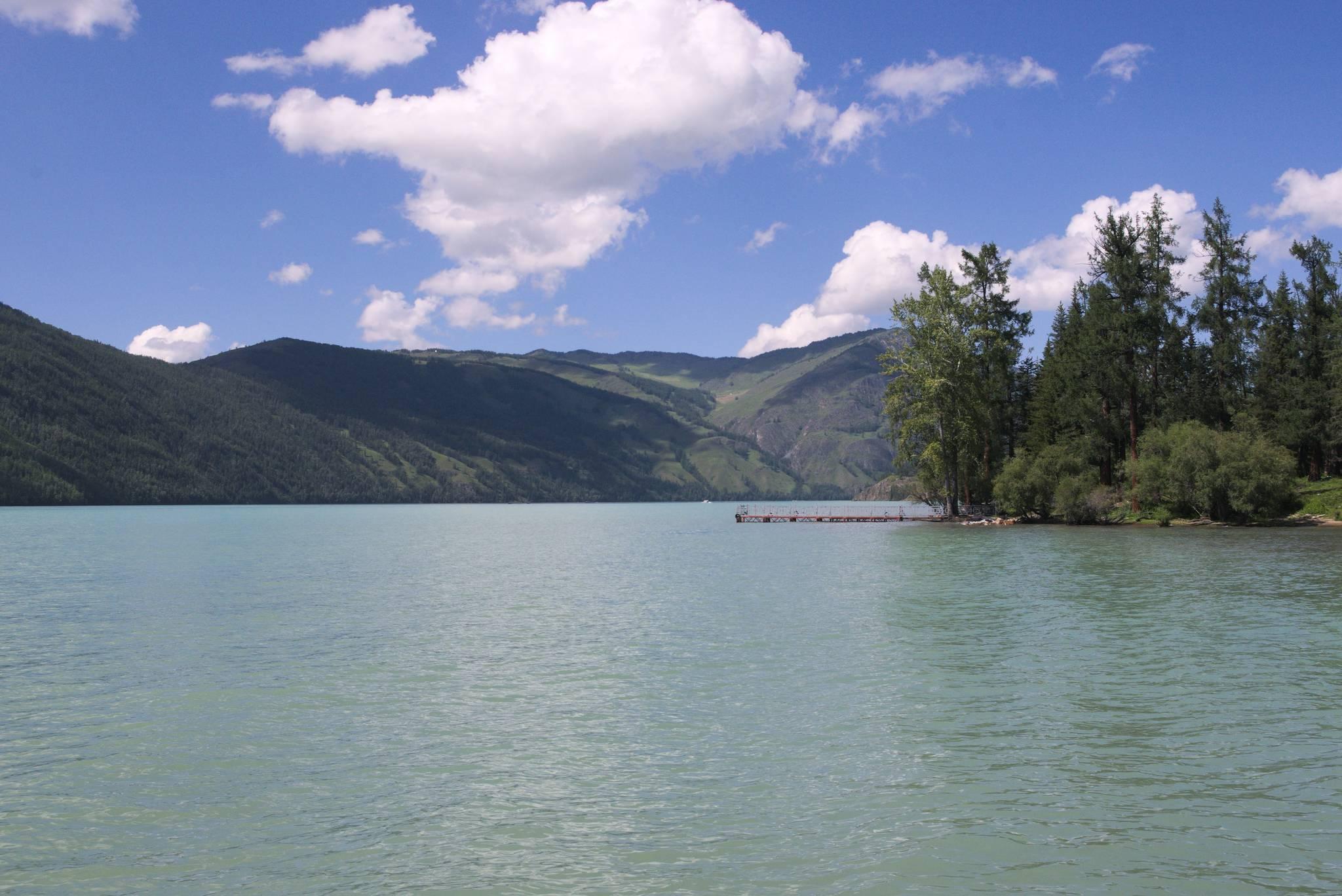 Jezioro Kanas z powierzchni
