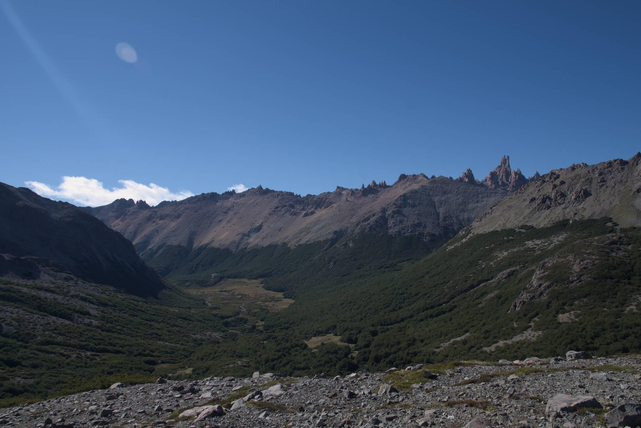 Za plecami Cerro Catedral