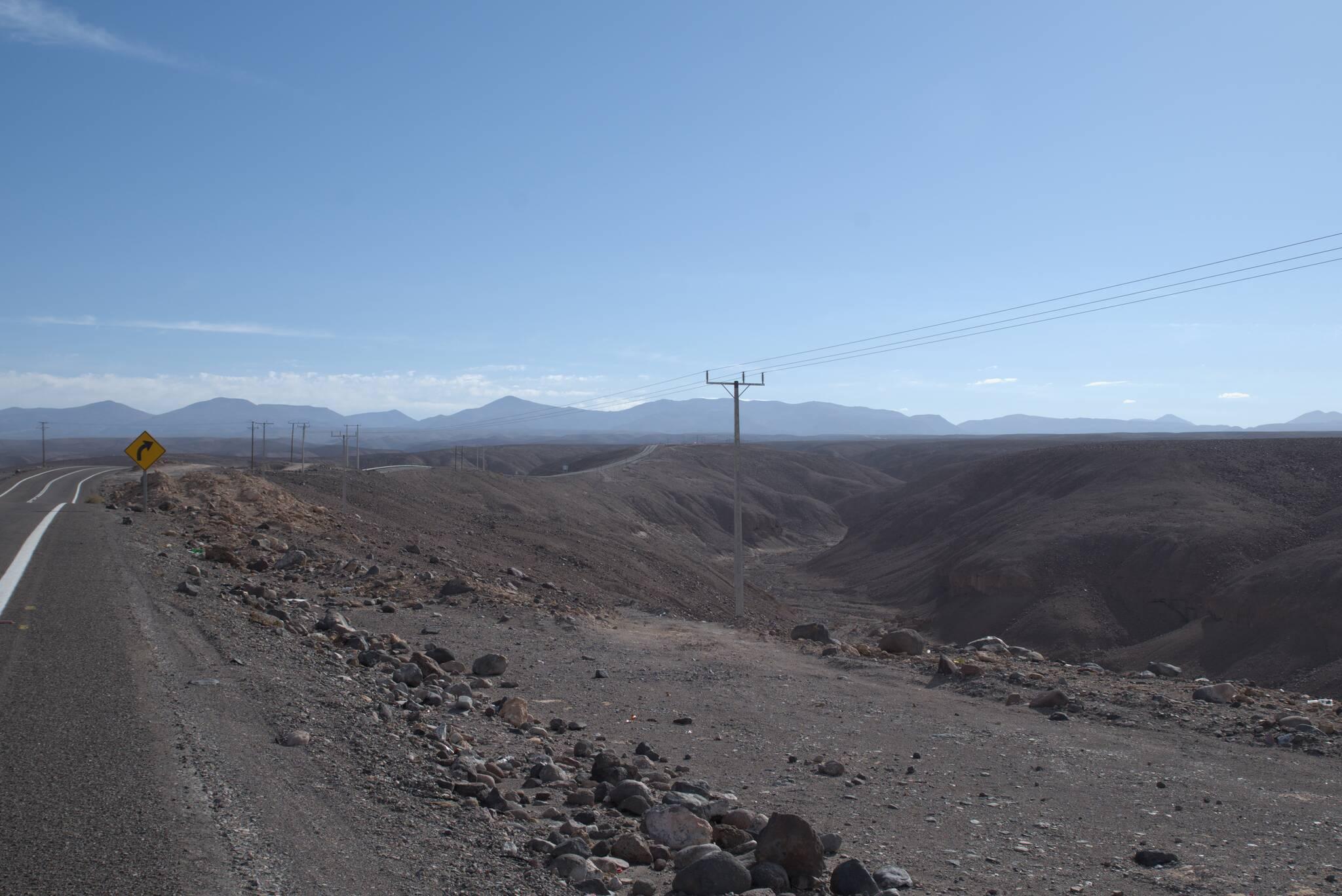 Droga łagodnie nabiera wysokości