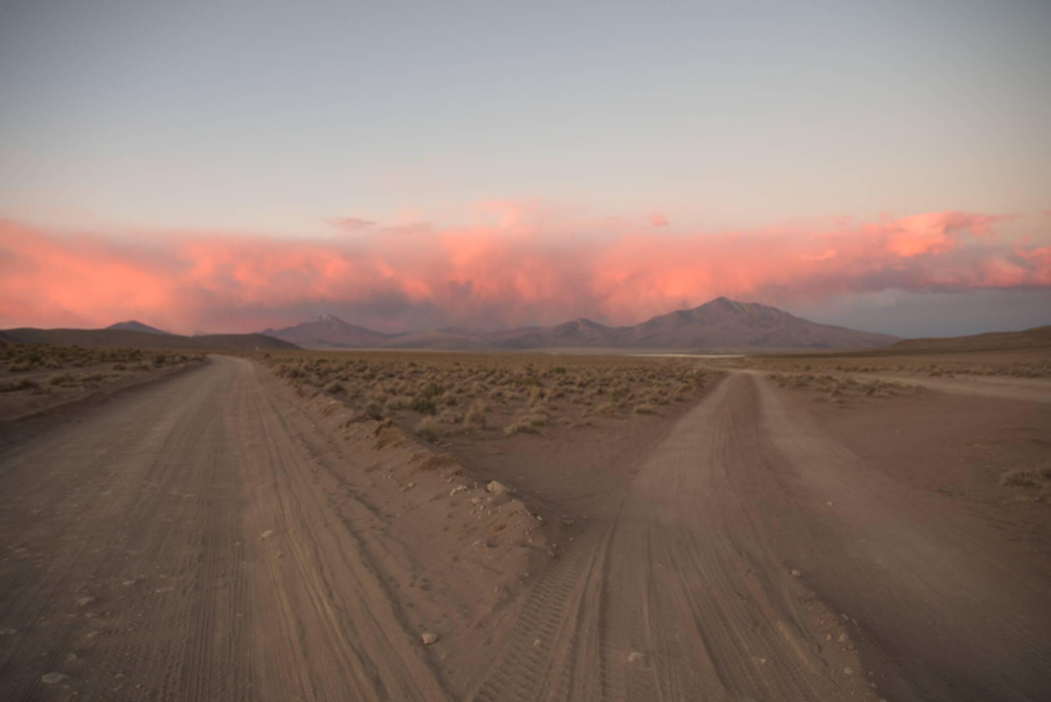 Burzowe chmury, ale po boliwijskiej stronie