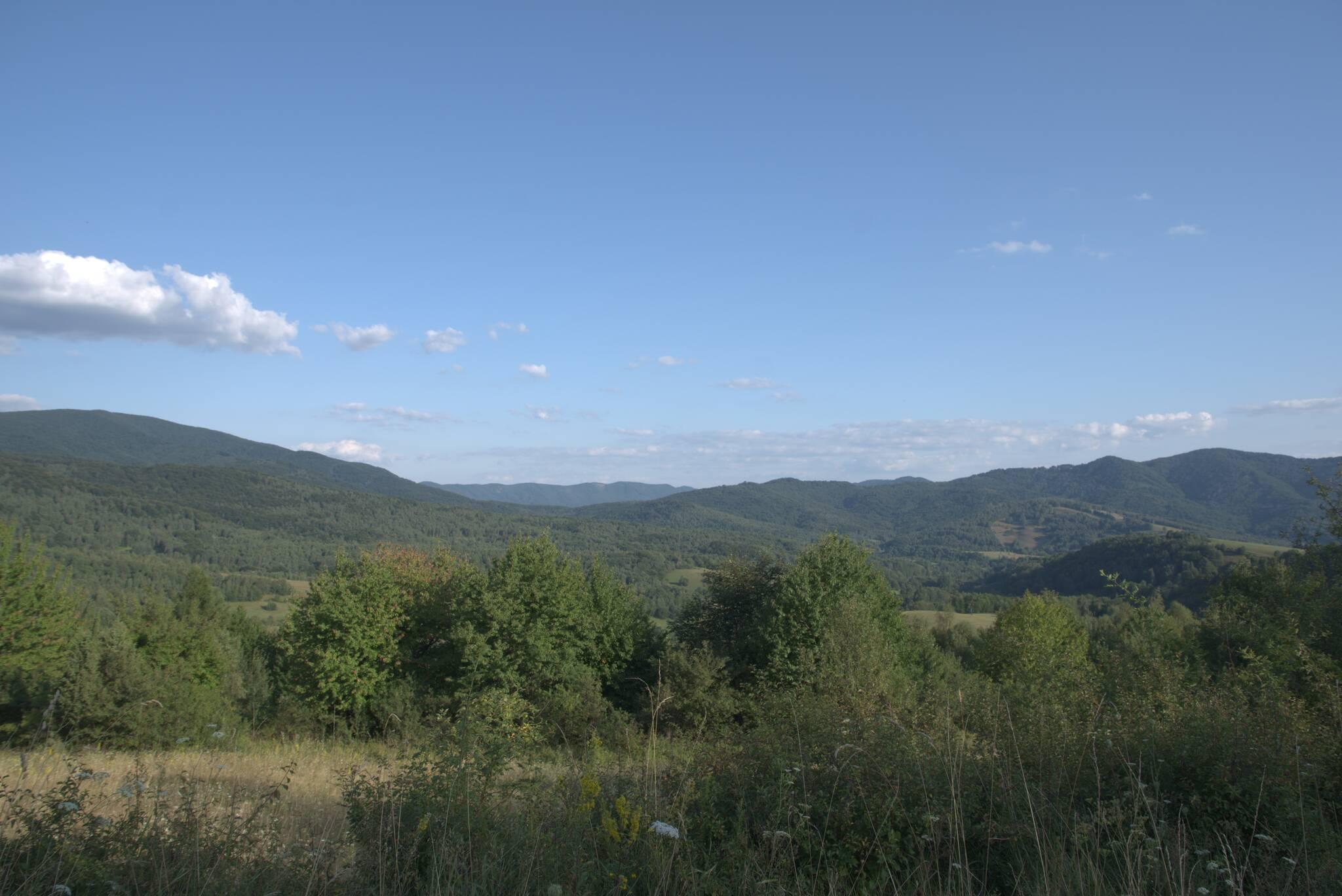 Widoki na wysiedloną wieś Ruskie