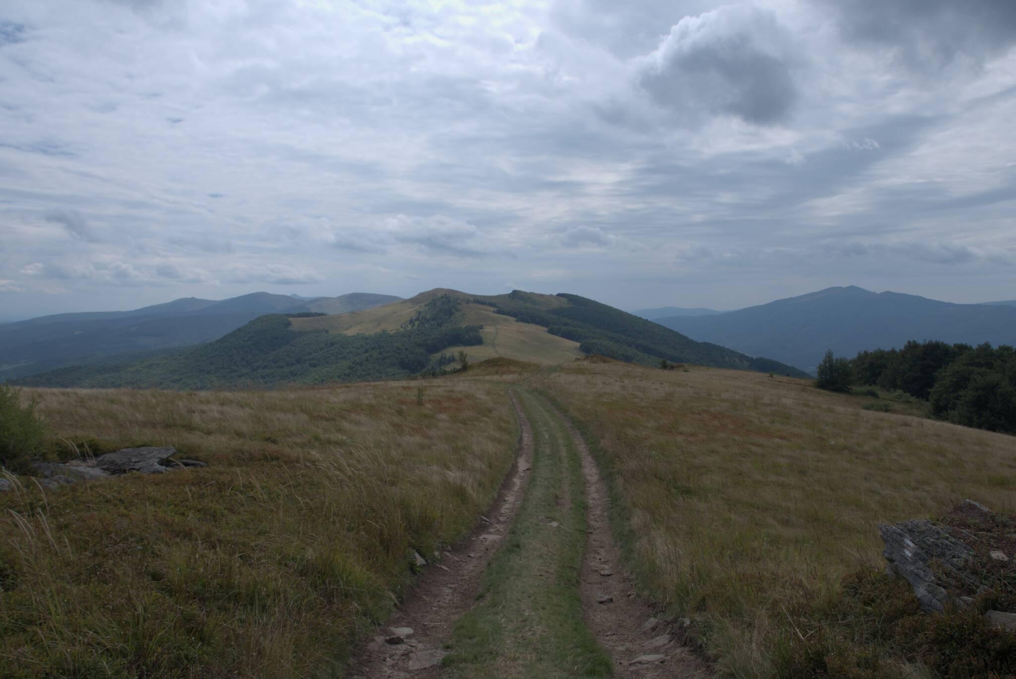 Dalej, wzdłuż wzgórz