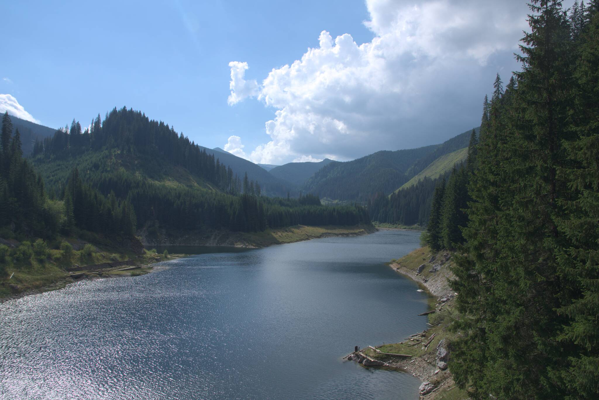 Tafla jeziora Galbenu