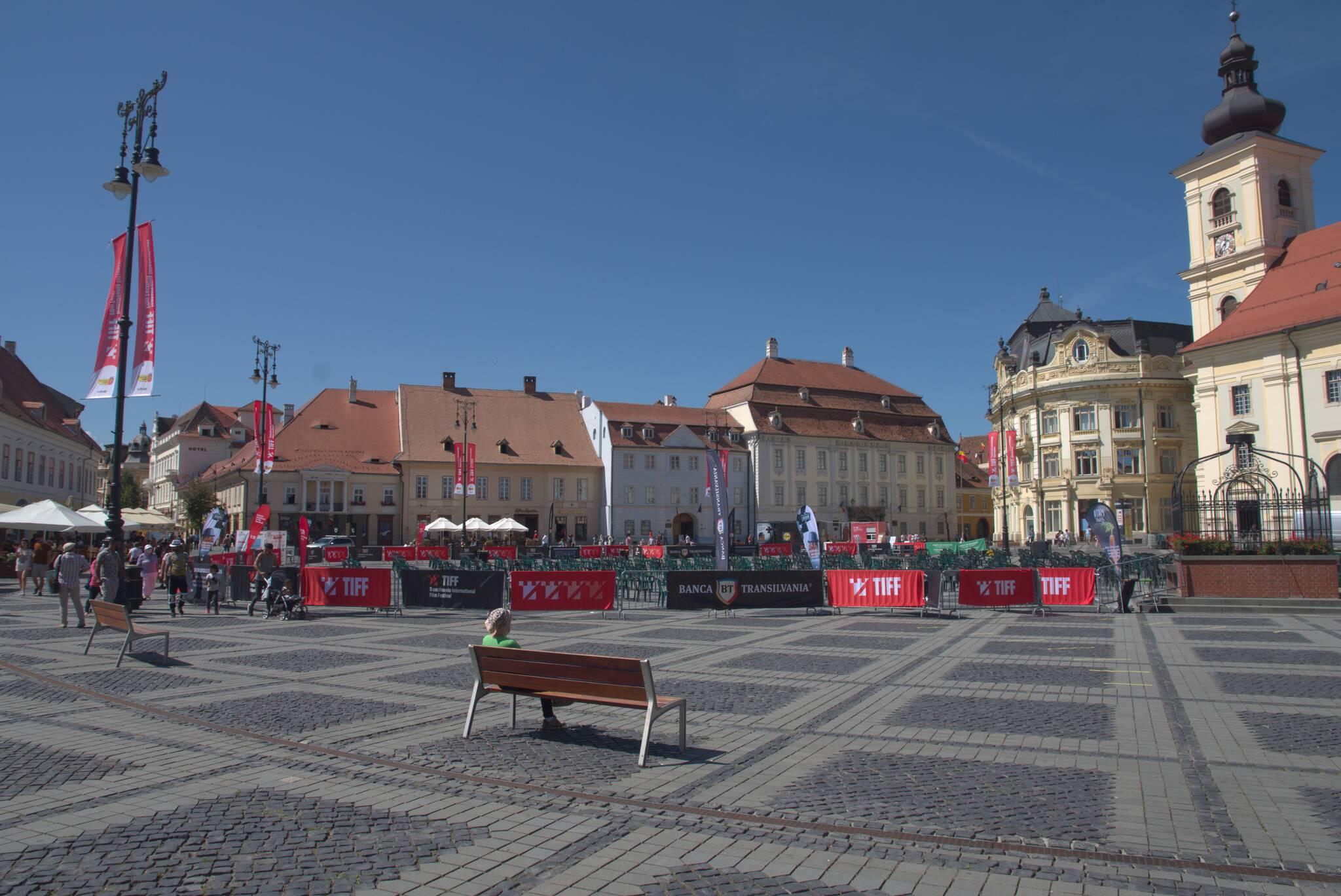 Sibiu, festiwal filmowy na rynku i wyjebongo na koronawirusa