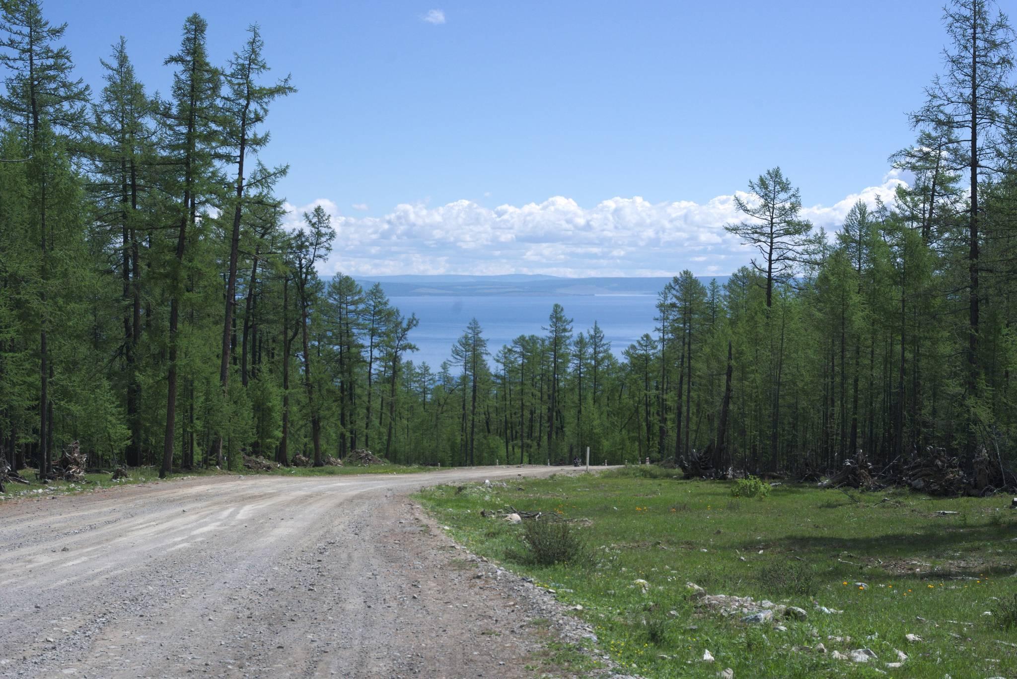 A po drugiej stronie jezioro Hovsgol