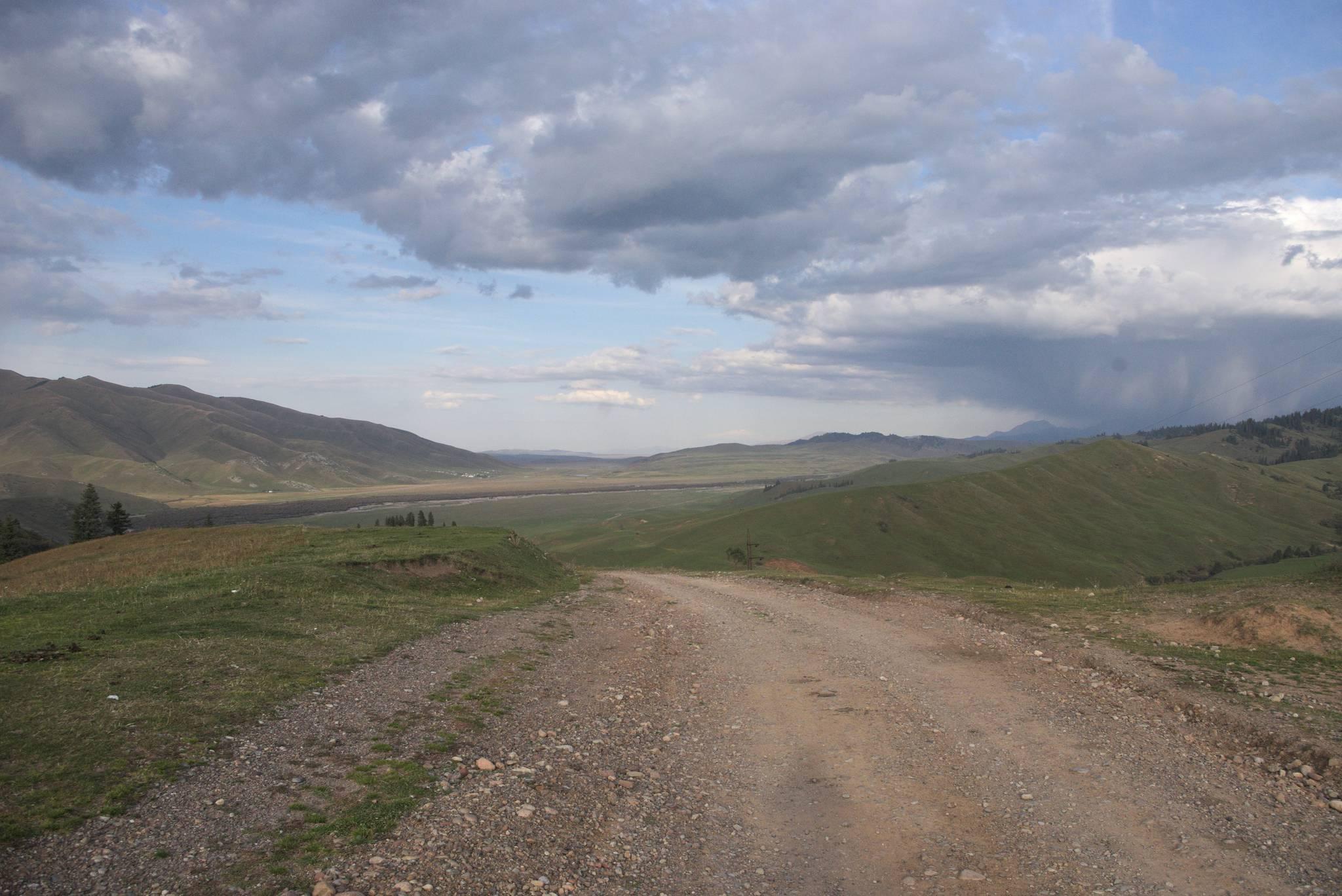 To płaskie na wprost to Kazachstan