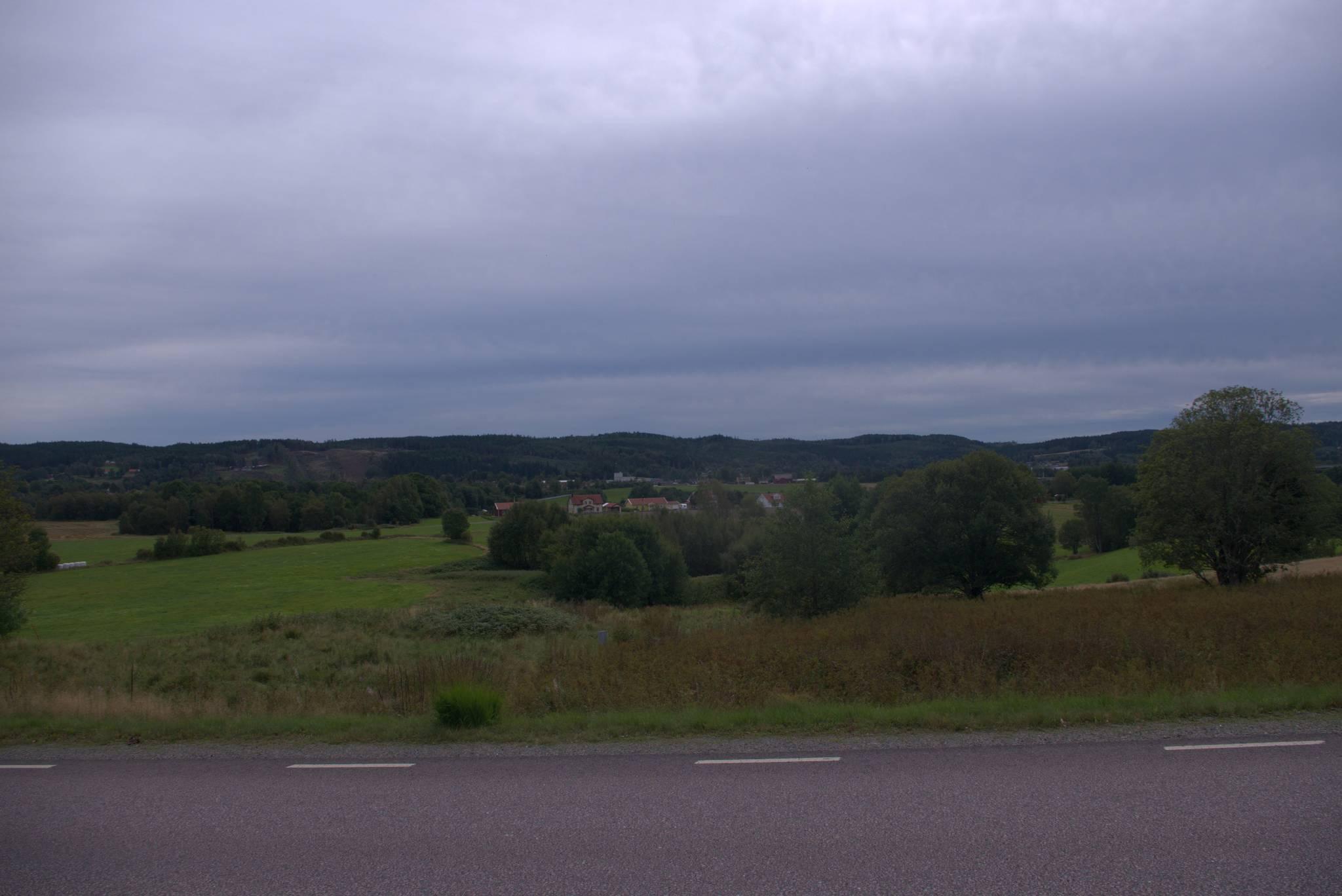 pagórki w drodze do Goteborga