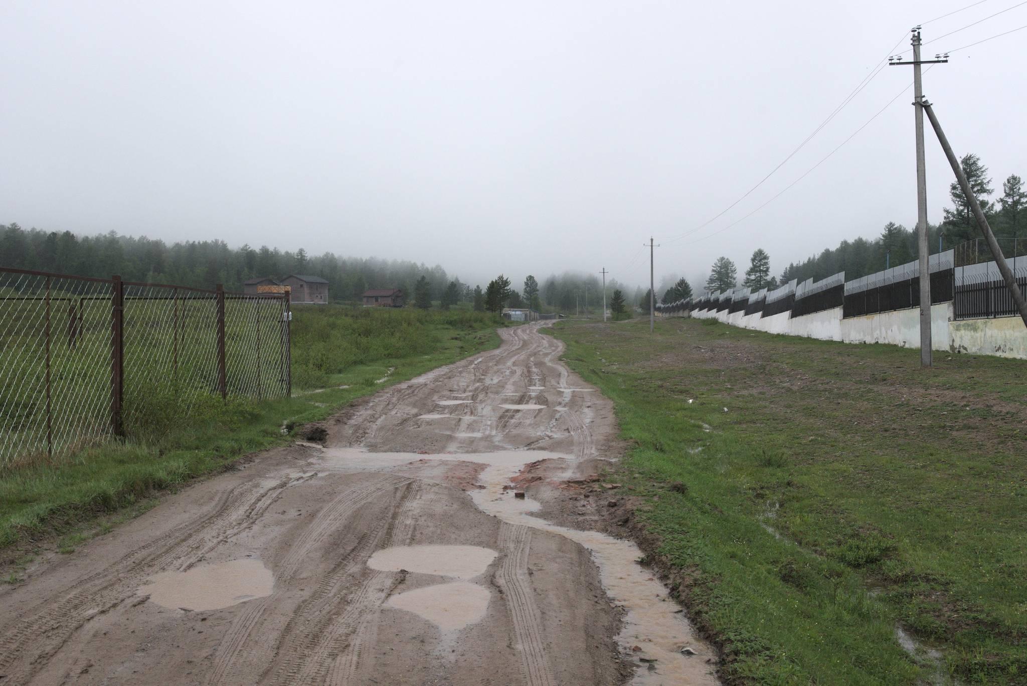 Trochę popadało w ostatnich dniach, a droga zamieniła się w śliskie błoto